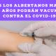 Todos los albertanos mayores de 12 años podrán vacunarse contra el COVID-19